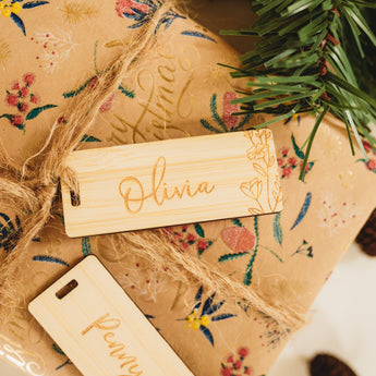 Personalised Wildflower Gift Tags