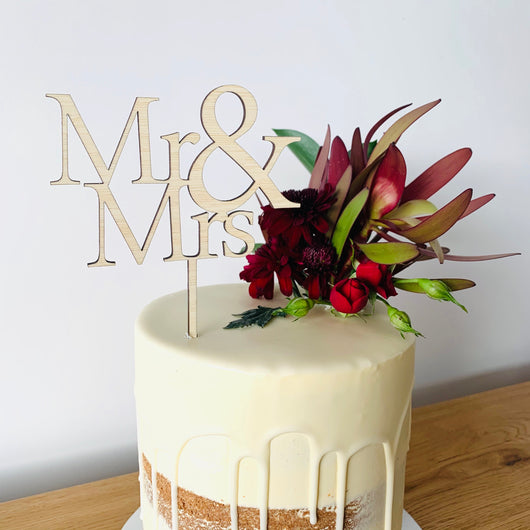 Formal Mr & Mrs Cake Topper (other colours available)