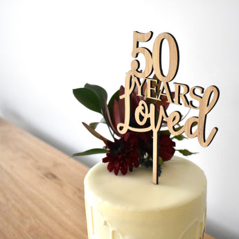 Years Loved Cake Topper (other colours available)