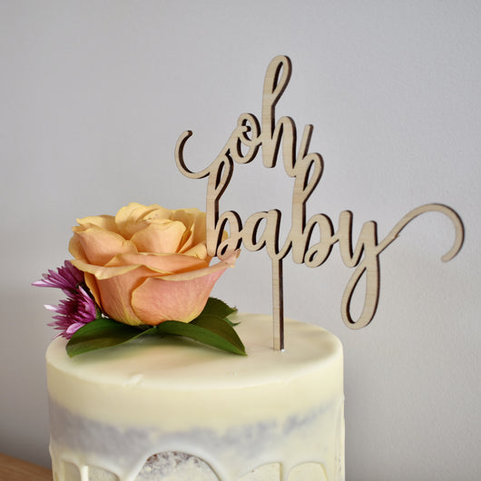 #1 Oh Baby Cake Topper (other colours available)