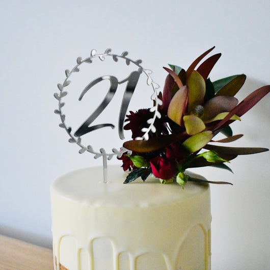 21 Vine Cake Topper (other colours available)