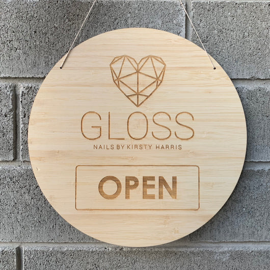 Custom Open/Closed Signage