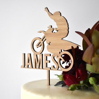 Motorcross Personalised Cake Topper (other colours available)