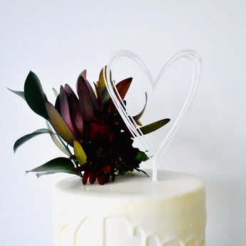 Scribble Heart Cake Topper (other colours available)