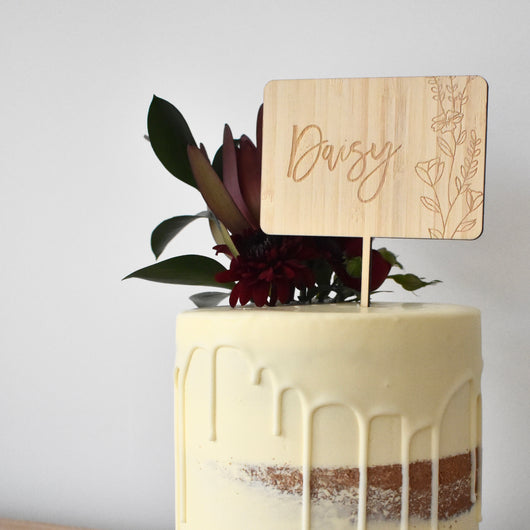 Wildflowers Cake Topper