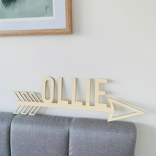 Personalised Wall Arrow