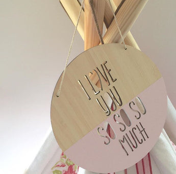 'I LOVE YOU SO SO SO MUCH' Round Plaque
