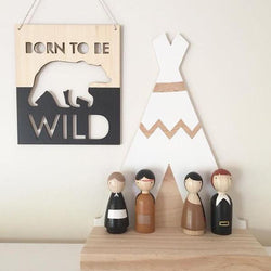 'BORN TO BE WILD' Mini Banner