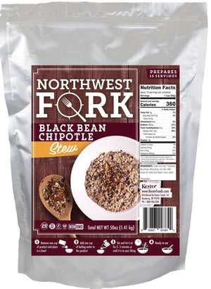 Black Bean Chipotle Stew Individual Package NorthWest Fork