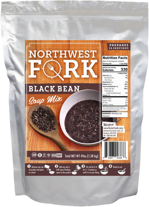 Black Bean Soup Individual Package NorthWest Fork