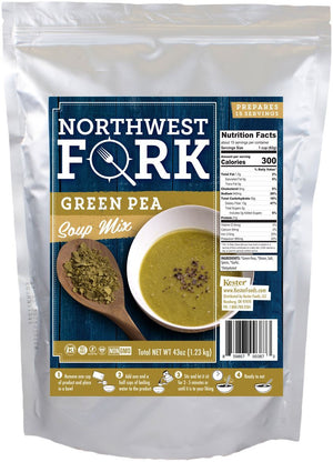 Seasoned Green Pea Soup Individual Package NorthWest Fork