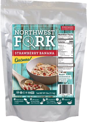 Strawberry Banana Oatmeal Individual Package NorthWest Fork