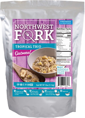 Tropical Trio Oatmeal Individual Package NorthWest Fork