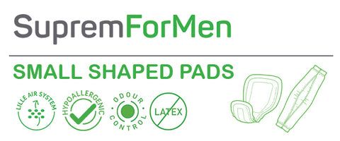 SupremForMen -Small Shaped Pads