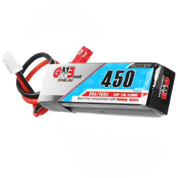 2S 7.4 v 450MAH 80c lipo with JST connector - BeaverFPV
