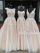 Charming A-line Tulle Long Prom Dresses Evening Dresses.DB10531