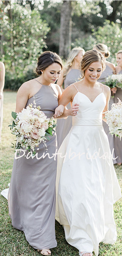 Charming Mermaid Halter Sleeveless Long Bridesmaid Dresses.DB10747