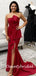 Straight Mermaid Side Slit Long Prom Dresses Evening Dresses.DB10815
