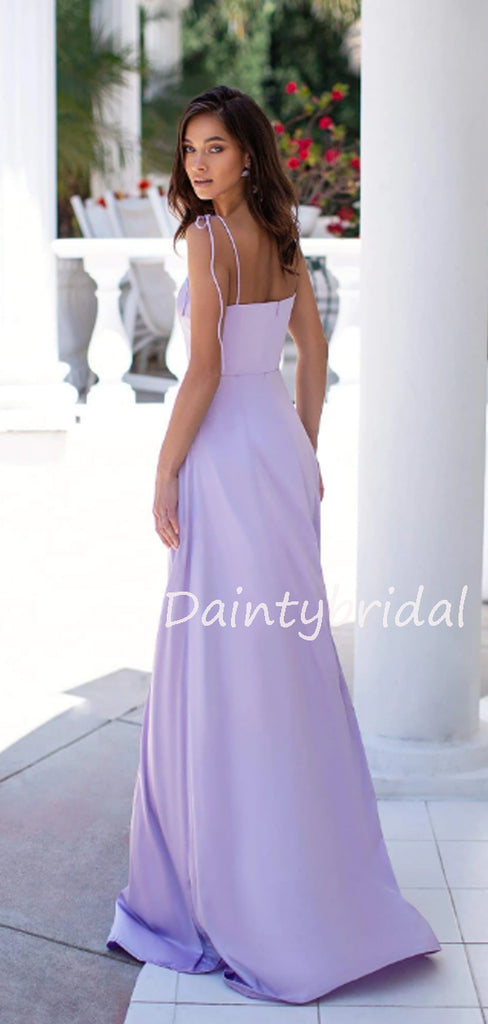 Sexy Spaghetti Strap Side Slit Long Prom Dresses Evening Dresses.DB10540
