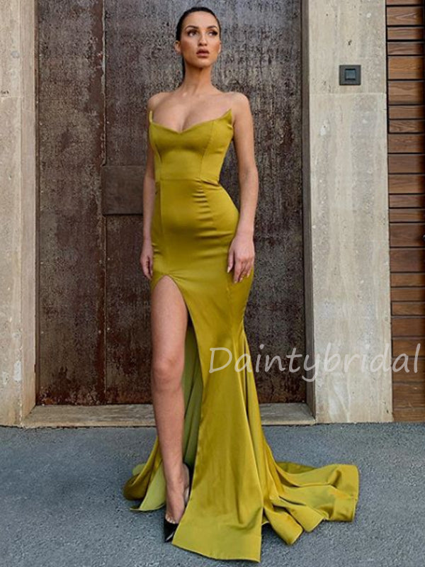 Sexy Sweetheart Mermaid Side Slit Long Prom Dresses Evening Dresses.DB10440