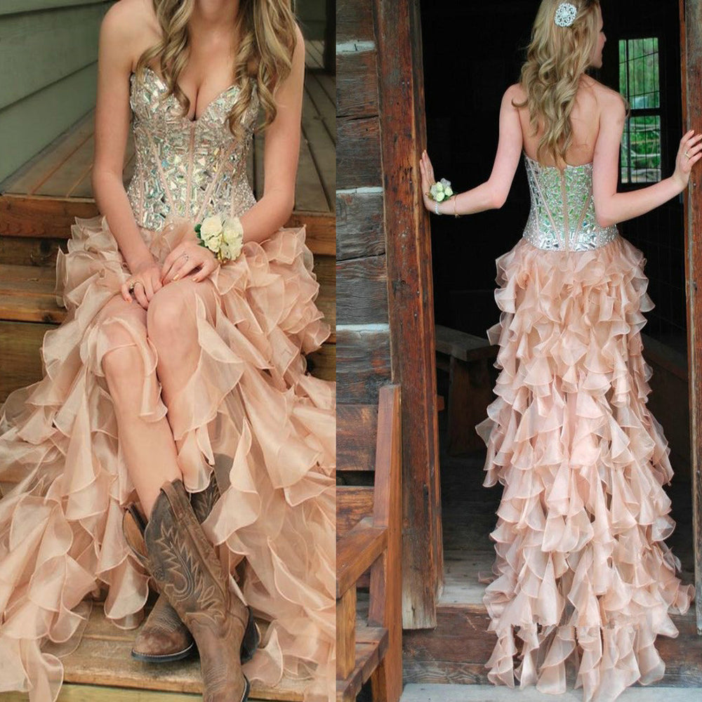 d4f1796338e 2017 New Sweetheart Vintage Unique For Teens Sparkly Bohemian Long Prom  Dresses. DB0067