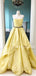 Charming Straight A-line Satin Lace Long Prom Dresses Evening Dresses.DB10572