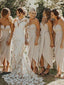 Charming Swetheart Side Slit Simple Long Bridesmaid Dresses.DB10755