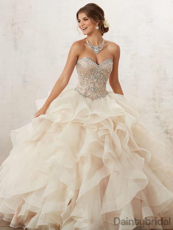 Sweetheart Organza A-line Wedding Dresses ,Ball Gown.DB10162