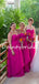 Charming Swetheart Side Slit Simple Long Chiffon Bridesmaid Dresses.DB10756