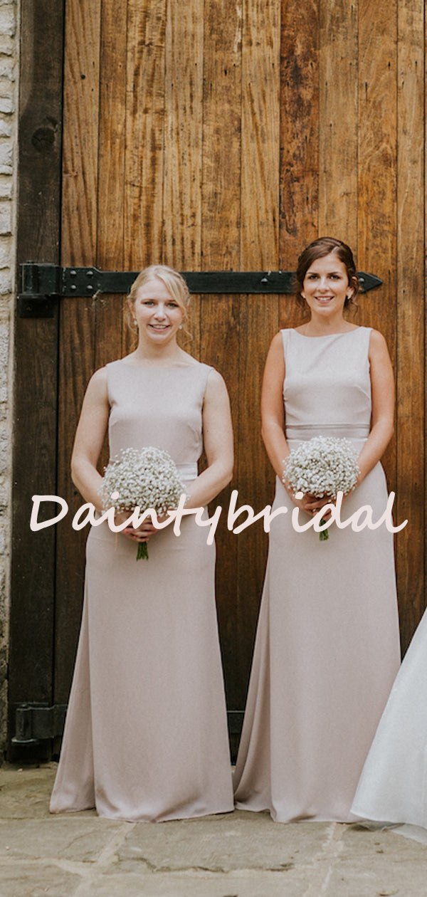 Sexy Round-neck Mermaid Simple Evening Dresses Bridesmaid Dresses.DB10730