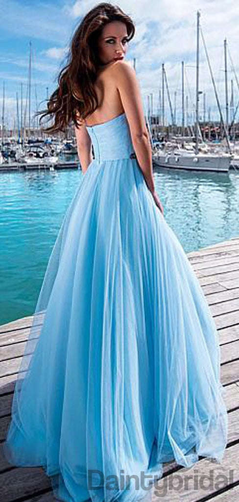 Sweetheart Neck Tulle party dresses, A-line Prom Dresses.DB10150