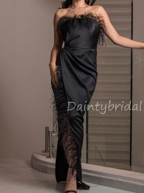 Charming Straight Side Slit Long Prom Dresses Evening Dresses.DB10574