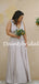 Simple V-neck Floor Length Long Bridesmaid Dresses.DB10772