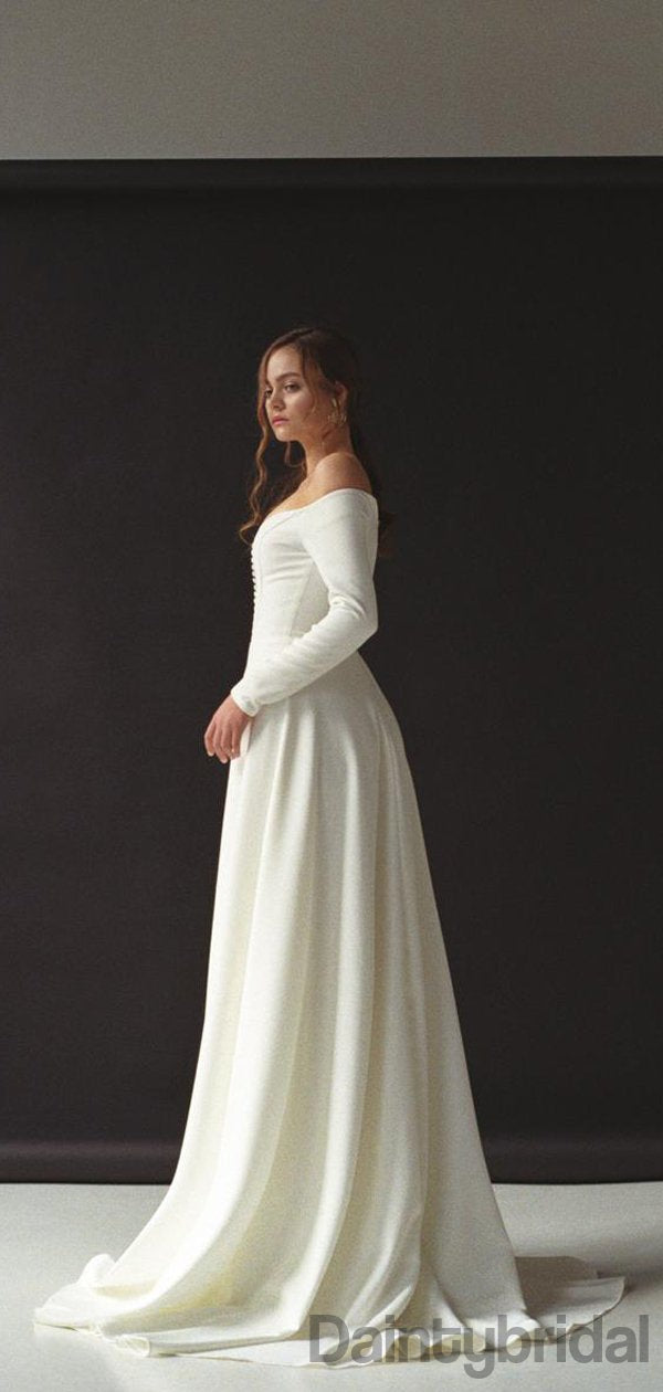 Sweetheart Long Sleeves A-line Zipper Up Prom Dresses.DB10166
