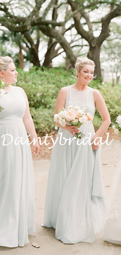 Simple Sweetheart A-line Chiffon Floor-length Long Bridesmaid Dresses.DB10775