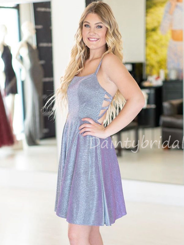 New Arrival Scoop Neck Long Sleeve Velvet Homecoming Dresses.DB10541