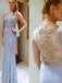 Elegant Mermaid Deep V-neck Sleeveless Evening Party Prom Dresses,PD0157