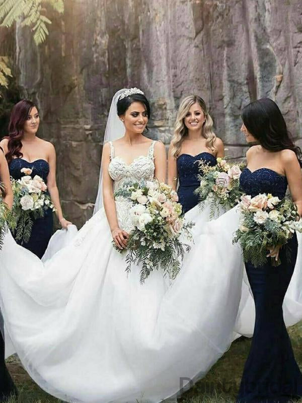 Sweetheart Mermaid Floor Length Bridesmaid Dresses.DB10139