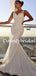 Simple V-neck Tulle Lace Mermaid Long Bridesmaid Dresses.DB10777