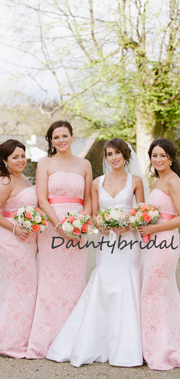 Beautiful Mermaid Straight Lace Evening Dresses Party Long Bridesmaid Dresses.DB10666