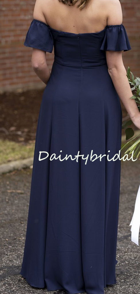 Best Straight Floor-length Zipper Up Evening Dresses Party Long Bridesmaid Dresses.DB10663