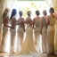 Popular Sparkly Full Bling Sequin Long Column Cowl Neck Sleeveless Floor Length  Bridesmaid Dresses, WG29