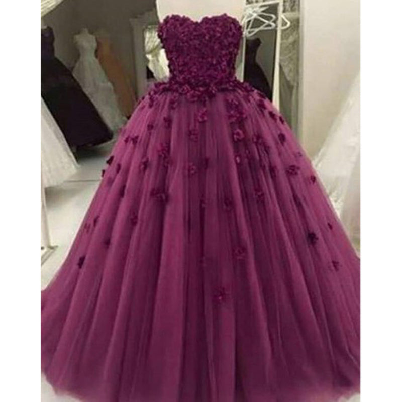 Vintage Pink Tulle Spaghetti Strap  Criss-Cross Appliques V-neck  Ball Gown Evening Party Prom Dresses,PD0128