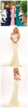 Long Off Shoulder Sequined Mermaid Wedding Party Bridal Gown Bridesmaid Prom Dress. PD0008