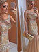 Popular Sparkly Rhinestone Mermaid Sleeveless Evening Party Long Prom Dresses,PD0100