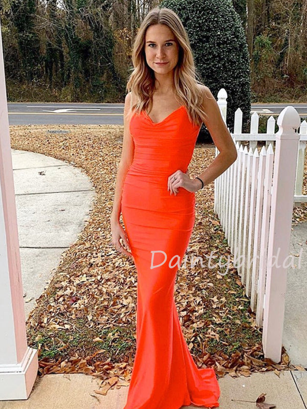 Sexy V-neck Open Back Long Prom Dresses Evening Dresses.DB10452