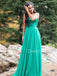 Charming Straight Chiffon A-line Long Prom Dresses Evening Dresses.DB10442
