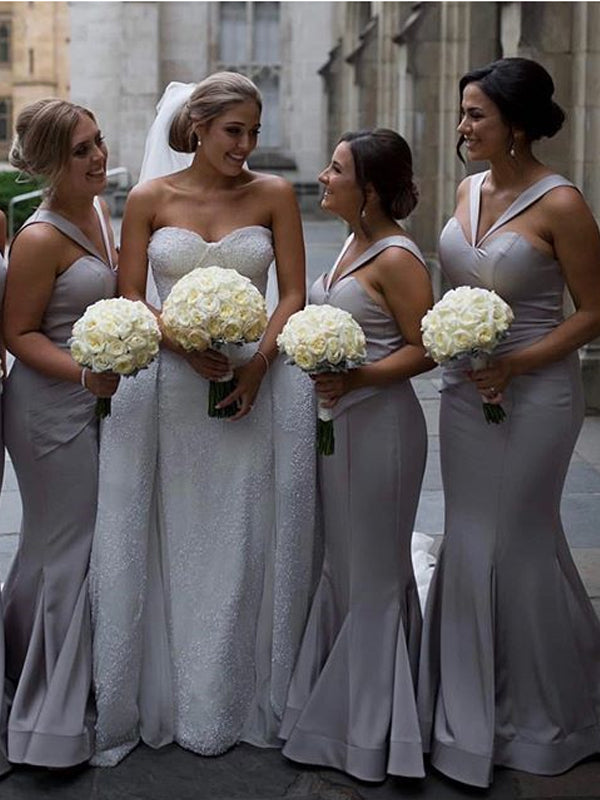 Sweetheart Mermaid Simple Bridesmaid Dresses Formal Wedding Party,DB107
