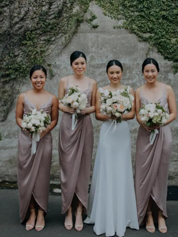 Beautiful Sexy V-neck Sleeveless Side Slit Evening Dresses Party Long Bridesmaid Dresses.DB10678