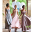 New Arrival Off the Shoulder Sweetheart Appliques Ankle-Length A-line Wedding party Bridesmaid dress. BD210